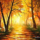 YELLOW FOG 3 by Leonid  Afremov