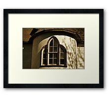 Window in the Turret Framed Print