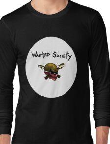 Multi-Color WS Skull Long Sleeve T-Shirt