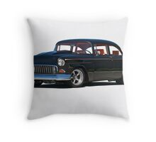 1955 Chevrolet 'Post' Coupe Throw Pillow
