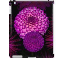 Purple Dahlia flowers iPad Case/Skin