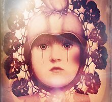 The Third Eye ~ doilied + colored by Cynthia Lund Torroll