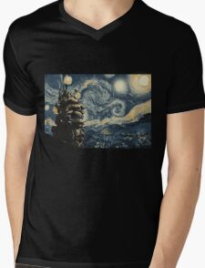 Howl's Stary Night Mens V-Neck T-Shirt