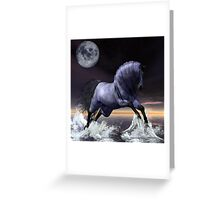 Midnight's Moon Greeting Card