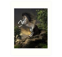 The Rearing Horse Art Print