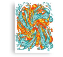 Splash Attack: Aqua and Fire Canvas Print