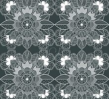 lace Decorative Floral Ornamental Pattern by Kireeva