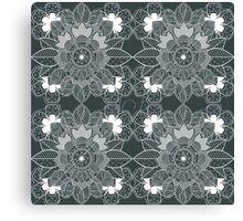 lace Decorative Floral Ornamental Pattern Canvas Print
