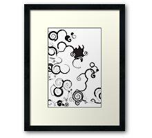 Funky Toon Swirls And Twirls Framed Print