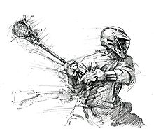 Lacrosse In Motion Photographic Print