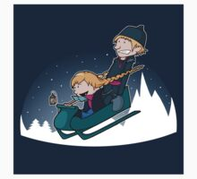 A Snowy Ride Sticker by perdita00