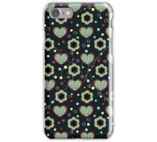 Heart And Flowers Pattern iPhone Case/Skin
