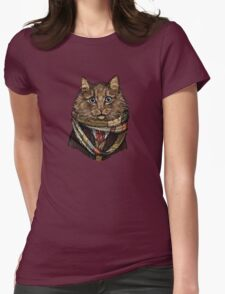 4th Doctor Mew Womens Fitted T-Shirt