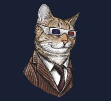 10th Doctor Mew 3D Glasses Kids Tee