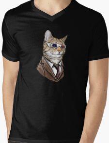 10th Doctor Mew 3D Glasses Mens V-Neck T-Shirt