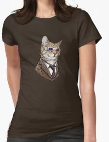 10th Doctor Mew 3D Glasses Womens T-Shirt