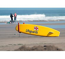 RNLI Lifeguards surf board Photographic Print