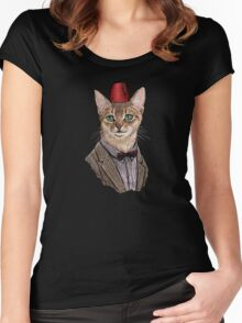 11th Doctor Mew Women's Fitted Scoop T-Shirt