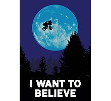 UFO I want to believe E.T. the Extra-Terrestrial Spoof Photographic Print