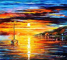 CALM SAILING by Leonid  Afremov