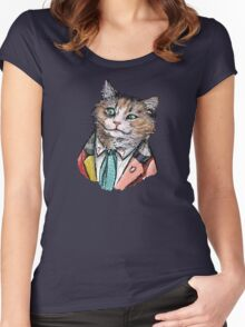 6th Doctor Mew Women's Fitted Scoop T-Shirt