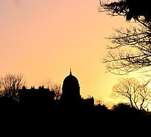 CHURCH DOME AT SUNSET by gothgirl