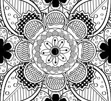 Black And White Lace Pattern by Kireeva