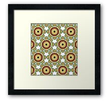 Abstract Flowers Seamless Framed Print