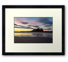 Bamburgh Sunrise. Framed Print