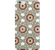 Abstract Flowers White iPhone Case/Skin