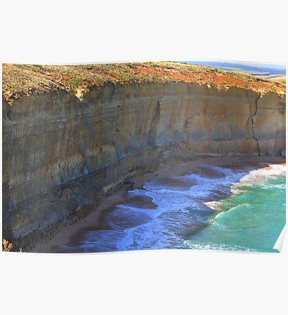 Australia Ocean Rocks Poster