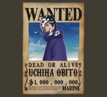 Wanted Poster Obito by BadrHoussni