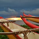 Outriggers at Sunset by Randy Richards