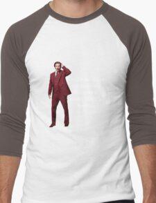 "Anchorman - Ron Bergundy - ""Suits so fine"". . .  Men's Baseball ¾ T-Shirt"
