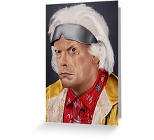 Emmett Brown Greeting Card