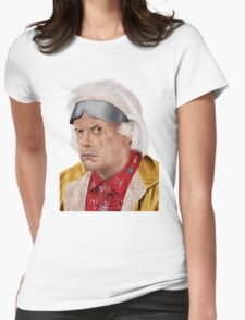 Emmett Brown Womens Fitted T-Shirt