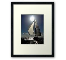 St Kilda twilight sailing Framed Print
