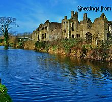 Neath Abbey Postcard or Greetings Card by Paula J James