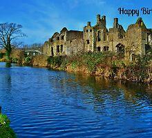 Neath Abbey Birthday Card by Paula J James