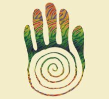 Spiral Healing Hand - Orange/Green by Resonance Clothing