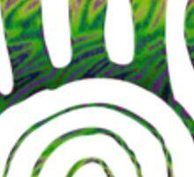 Spiral Healing Hand - Orange/Green Sticker