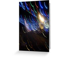 blurred lights  Greeting Card