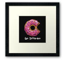 Eat Different Framed Print