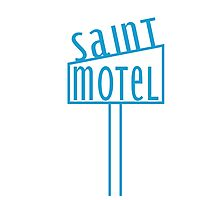 blue motel Photographic Print