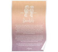 Affirmation - Friendship Poster