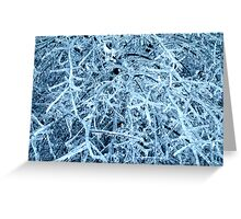 Blue Ice Greeting Card