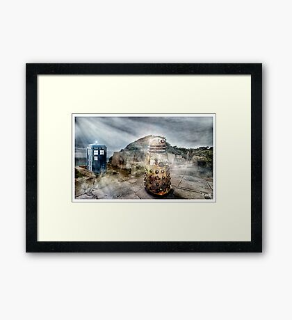 Timey Whimey at Point Nepean Framed Print