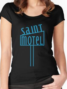 blue motel Women's Fitted Scoop T-Shirt