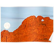 Kissing Camels and the Moon Poster