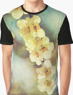 Lovely White Plum Blossoms Vintage Washi Paper Graphic T-Shirt